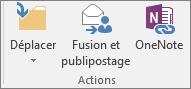 Le bouton Publipostage figure sous l'onglet Accueil dans le groupe Actions