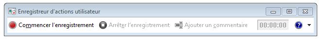 Capture d'écran de l'Enregistreur d'actions (PSR.exe)