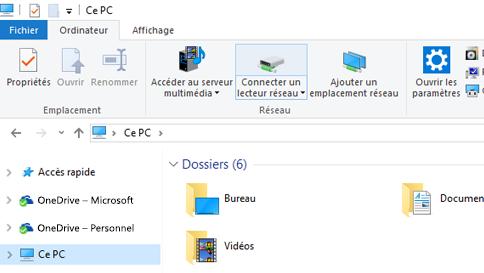 Capture d'écran de l'Explorateur de fichiers