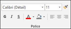 Commandes disponibles dans le groupe Police Access