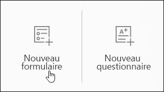 Créer un formulaire d'enquête