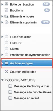 Dossier d'archive en ligne