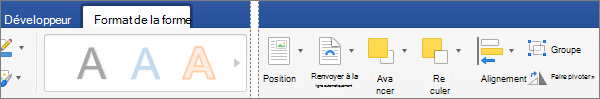 Pour aligner un ou plusieurs objets que vous avez sélectionnés, cliquez sur aligner.