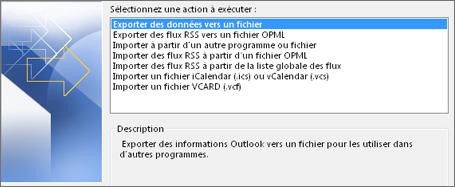 Fichier d'exportation