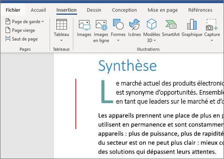 Office 365 Word – Images, graphiques SmartArt et graphiques