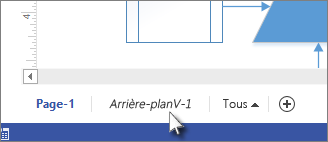 Onglet Arrière-plan dans Visio