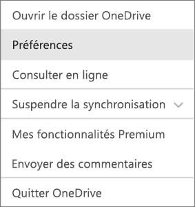 Centre d'activités dans OneDrive pour Mac