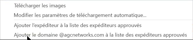 Télécharger les options d'alerte