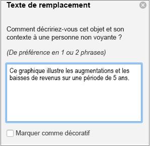 Volet de texte de remplacement dans Word