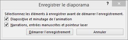 Boîte de dialogue Enregistrer le diaporama dans PowerPoint