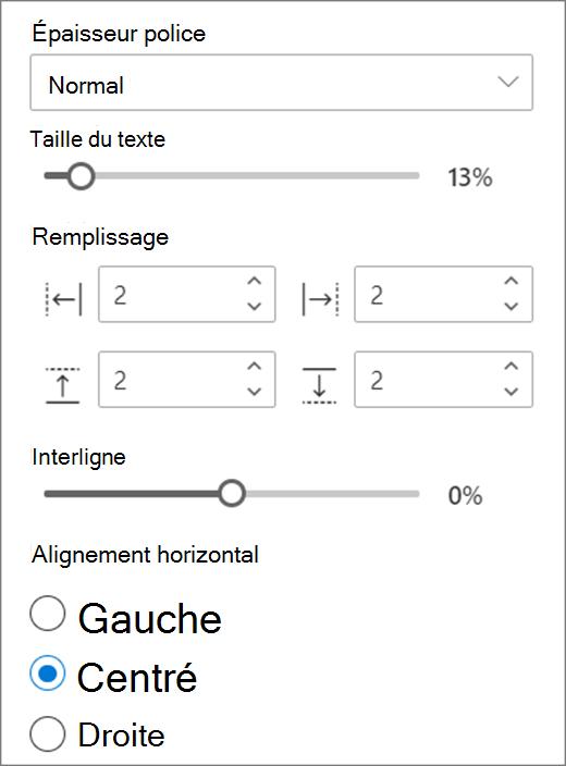 Choix dans la mise en forme du texte