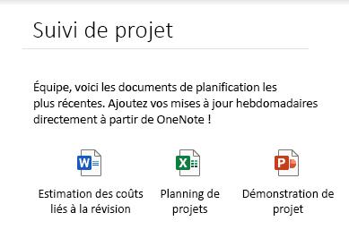 Fichiers incorporés sur une page dans OneNote pour Windows10