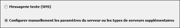 Outlook2010 configure manuellement les paramètres du serveur