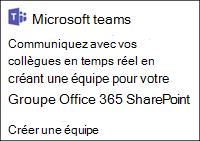Créer une équipe Microsoft