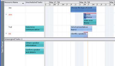 Image de l'affichage Planificateur d'équipe