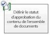 Définir le statut d'approbation du contenu de l'ensemble de documents
