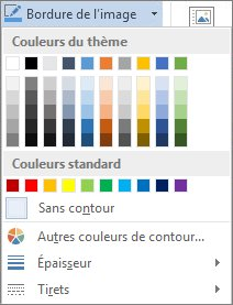 Options de bordure d'image