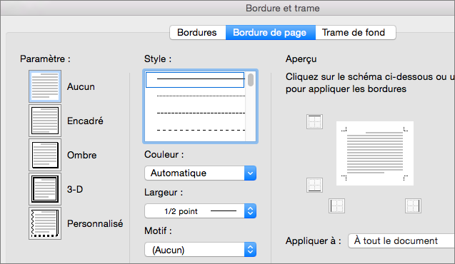 Ajouter Une Bordure à Une Page Support Office