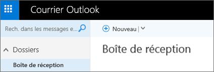 Apparence du nouveau ruban dans Outlook.com