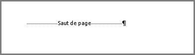 Saut de page au bas d'une page Word