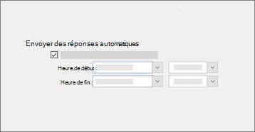 Capture d'écran conceptuelle de la fonctionnalité d'absence du bureau