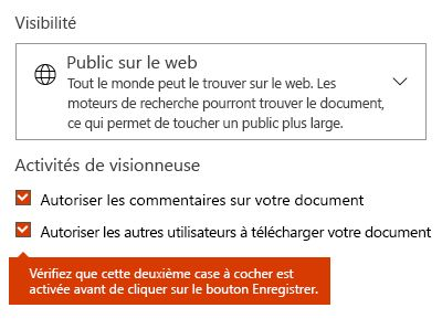 Option de téléchargement de document de Docs.com