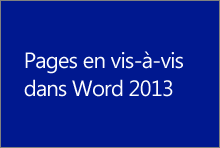 Pages en vis-à-vis dans Word 2013
