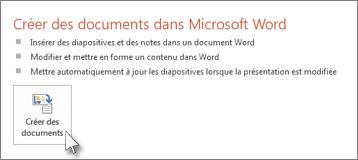 Créer des documents dans Word