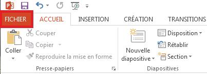 Cliquez sur Fichier dans le coin supérieur gauche de votre écran.