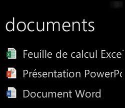 Les documents du Bureau s'affichent sur Windows Phone lorsqu'Office Remote est en cours d'exécution