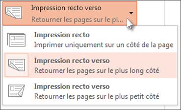 Sélectionner une préférence de page