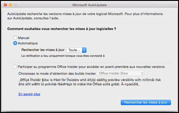 Office pour Mac AutoUpdate