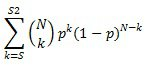 Équation LOI.BINOMIALE.SERIE