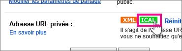 Calendrier Google - créer un ical privé