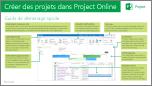 Guide de démarrage rapide Créer des projets dans ProjectOnline