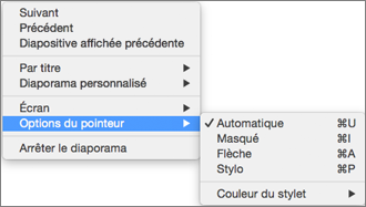 Maintenir enfoncée la touche Ctrl en cliquant pour afficher une liste des commandes pendant que vous enregistrez