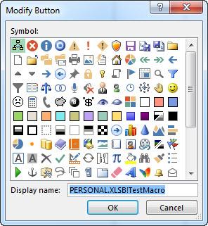 Boîte de dialogue Bouton Modifier