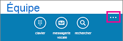 Appuyer sur les points de suspension en bas de l'écran pour afficher le menu Paramètres supplémentaires