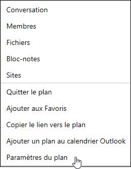 Recevoir des courriers électroniques à propos d'un plan