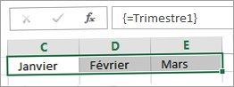 Une constante nommée utilisée dans une formule matricielle