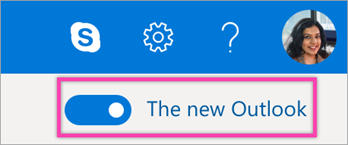 Essayer la nouvelle bascule Outlook