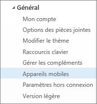 Général > Appareils mobiles