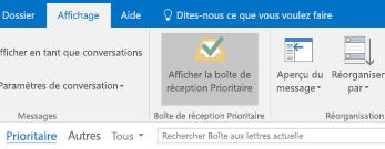 Fonctionnalité de la boîte de réception Prioritaire Outlook