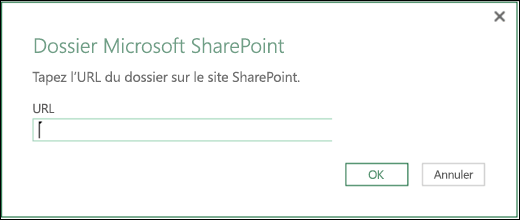 Excel Power BI - Boîte de dialogue Connecteur Dossier SharePoint