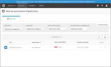 Dans la page «Gérer les autorisations des applications», vous pouvez afficher la liste des applications, les utilisateurs qui sont à l'aise, et ils des niveaux de quelle autorisation avez accordé.