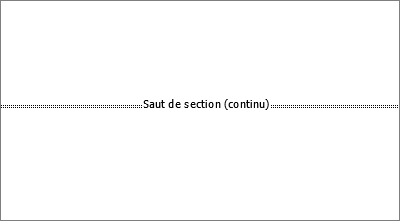Affiche un saut de section dans un document
