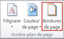 Bouton Bordures de page dans Word2010