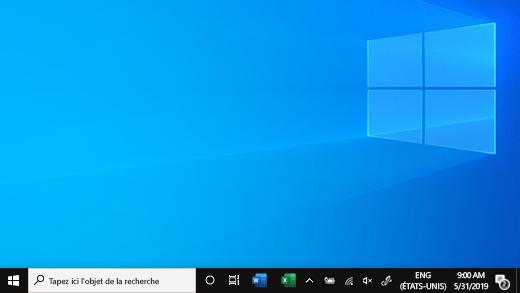 Barre des tâches Windows10