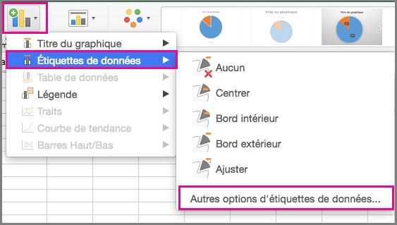 Ajouter un élément graphique dans Office pour Mac