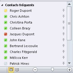 Quick Contacts in the To-Do Bar